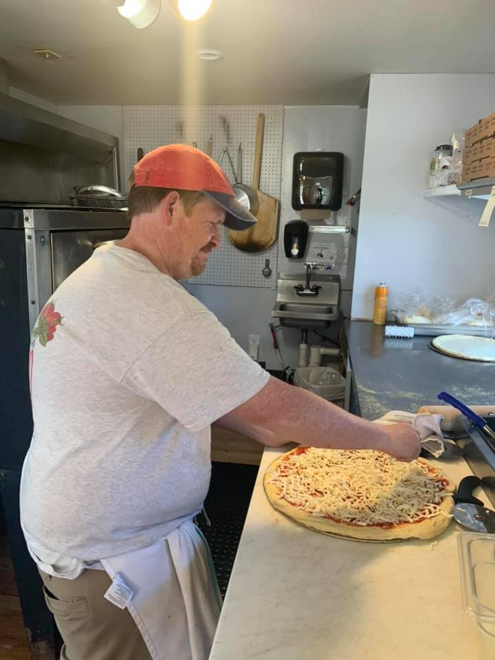 west eden pizza being cooked